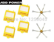 New Can Track 4 Hepa Filters + 2 Side Brush 6 Armed for iRobot Roomba 700 Series 760 770 780  790 Free shipping