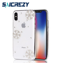 Buy Saicrezy Snowflake Christmas Bling crystal rhinestone phone Case Cover iphone X iPhone X, 2017 Case Snowing Season for $3.19 in AliExpress store