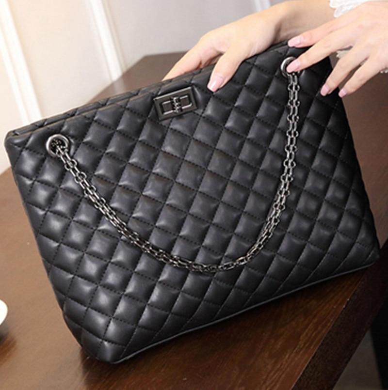 New Chain Lingge Shoulder Bag Designer Handbags High Quality Shoulder Bags female Hot Ladies Handbag PU Leather soft Crossbody<br>