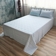 Cotton Bed Linen Custom Size fish Sheet Sets Cotton Flat Sheet Queen Fitted Sheet Twin Pillow Case Beddig Sets(China)