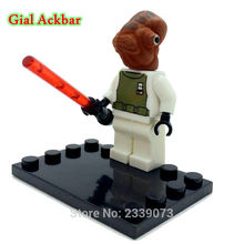 Admiral Akbar With Lightsaber Mini Dolls Star Wars Building Blocks Model Classic Toys Bricks Kids Education Learning Toys