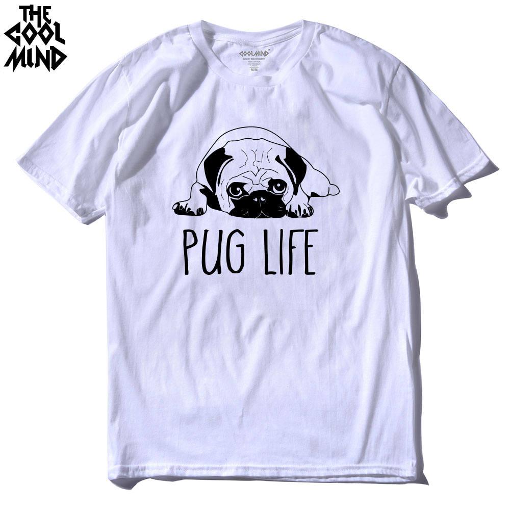 cotton casual pug life mens t shirts top quality fashion short sleeve men tshirt men's tee shirts tops men T-shirt 17 T01 26