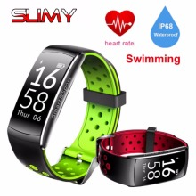 Buy Slimy Q8 Smart Bracelet Heart Rate Monitor Fitness Tracker Bluetooth Wristband IP68 Waterproof Sport Smart Band Android IOS for $21.84 in AliExpress store