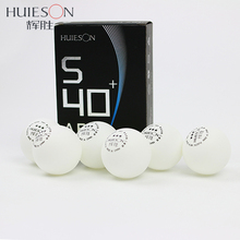 Huieson 6 pcs/pack 3 Star Table Tennis Poly Balls S40+mm New Material ABS Plastic Table Tennis Training Ball for Senior Players(China)