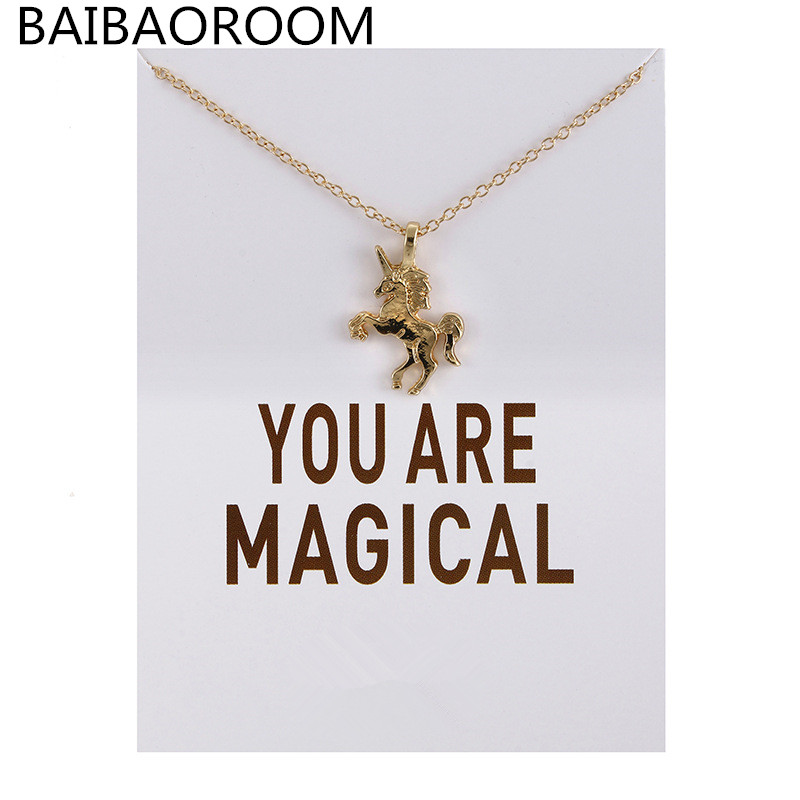 Fashion Jewelry New Arrived You Are Magical Unicorn necklace pendant jewelry For Women