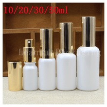 Wholesale White Glass Essential oil Spray Bottle,Female Beauty &Skin Care For Small Tools, Empty Cosmetics Packaging Container