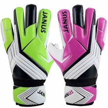 Soccer Goalkeeper Gloves Professional Football Goalie Gloves Goal keeper Gloves Finger Protection Thickened Latex Green Rose(China)