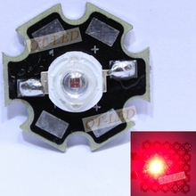 Freeshipping! Hot sale10PCS 3W Deep Red High Power 660NM Plant Grow LED  Light for Cabinet/Tank/Aquarium