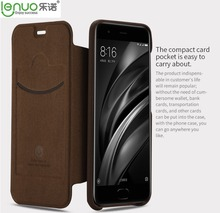 Lenuo Brand Dream Series Gentle Slim PU Leather Case For Xiaomi Mi6 Mi 6 Flip Cover With Card Pocket, 5 Color for choose