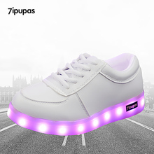 7ipupas Led shoes for kids casual Lovers casual shoes led luminous sneakers boys girls light up couple glowing sneakers mujer(China)