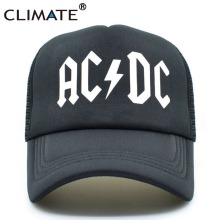 CLIMATE Men Women Cool Trucker Mesh Caps ACDC Band Rock Fans Cap AC/DC Rock Band Caps AC DC Heavy Metal Rock Music Fans Cap Hat(China)