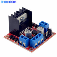 High Anti-interference Ability! Dual Channel H-Bridge Motor Driver Board L298N DC Stepper Motor Driving Module 5V 2A For Arduino