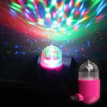 3W E27 RGB LED Colors Changing Mini Crystal Stage Rotating Light Bulb Party DJ