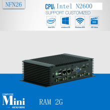 Intel Atom N2600 dual core fanless embedded industrial pc Low power  industrial control machine Barebone