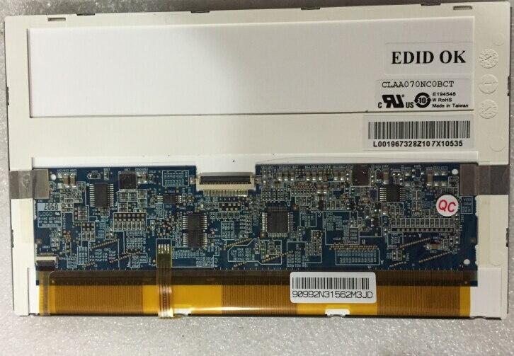 Original 7 inch LCD screen: CLAA0070NC0BC, T, 1024*600<br>