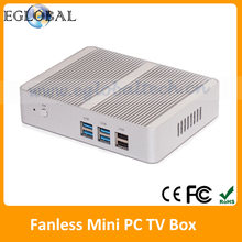 Cheapest Thin Client Slim PC OpenELEC Kodi HTPC Fanless Mini PC Windows 10 TV Box Intel Nuc Core i5 HDMI VGA USB MIC SPK LAN