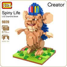 LOZ Diamond Blocks Bobby Hedgehog Spiny Life Animal Model Movie Micro Building Pixels Educational Action Figure 9020 - ideas Store store