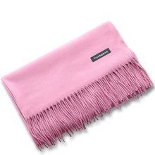 2017 Luxury Brand Cashmere Scarf Women Fashion Winter Scarf Shawls Ladies Solid Pashmina Tassels Long Wool Cashmere Scarves(China)