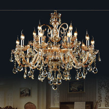 15 Arms crystal chandelier lamp light lustres de cristal Decoration Tiffany Chandeliers Crystal Lustre for Home and Hotel