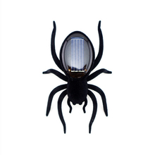 2017 New Creative Mini Solar Powered Spider Black Robot Insect Toy Fun Gift Baby Kid Gags Practical Jokes Solar spider Toys