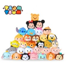 Tsum Tsum Mini 9cm Plush doll Toys Screen Cleaner inside out Mickey Minnie animal bear juguetes key chain accessory kids gift