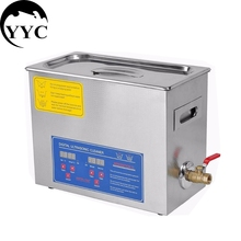 Stainless Steel PS-30A 110V / 220V 6L Industry Heated Ultrasonic Cleaner Heater Timer Cleaner Cleaning Equipment Machine