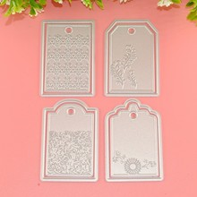 4pcs/set Bookmarks Frame Metal Scrapbooking Embossing DIY Photo Album Festival Card Cutter Dies Decorative Paper Cards Craft