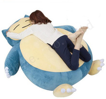 Pocket Monster Giant Snorlax  Plush PP Cotton Stuffed Doll Toys Cushion Pillow