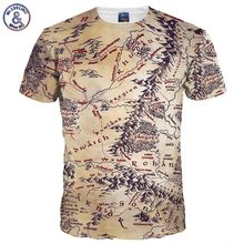 Mr.1991INC Hot Sell Men/Women 3d T-shirt Retro Print The Middle Earth World Map Brand Tshirts Summer Tops Tees Quick Dry(China)