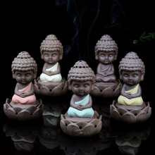 Creative Zen Cone Coil Incense Burner Holder Lotus Plate Home Decor living Room Furnace Decoration Ornament Tathagata Buddha(China)