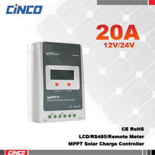 Tracer2210A 20A 12V/24 100V MPPT solar controller with LCD display RS485 remote control in computer for solar battery charger(China)