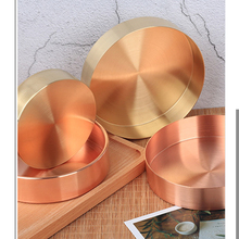 1 Piece Copper Brass Storage Plate Jewelry Box Round Storage Case Gift Box Creative Home Utilities Wedding Decoration 10 to 14cm(China)