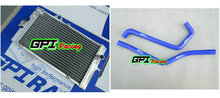 GPI aluminum racing Radiator +BLUE HOSE for Yamaha Raptor YFM 700R YFM700R 2006-2012 2007 2008 2009 2010 2011 06 07 08 09 10 11(China)