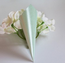 50 pieces CONFETTI CONES PEARLY Light cool Mint green wedding decoration guest use