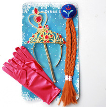 Free Shipping New Style Party Cosplay Accessories For Kids Sexy Long Cute headdress Princess Anna Elsa Accessories 3FH047(China)