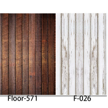 Photography Background Wood Floor Vinyl Digital Printing Cloth Backdrops for photo studio alternative F026 Floor-571(China)