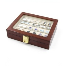 2016 Cufflink Cuff Links Storage Gift Box Jewelry Display Case High Quality Painted Wooden Box(China)