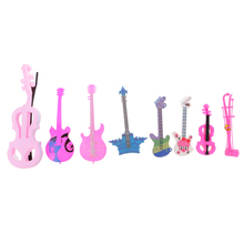 Doll accessories Musical Instrument - erhu cello violin guitar 8 pieces/ Set Dollhosue Decoration Classic Toys for Children Kids