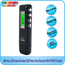 Hnsat 4GB Voice Activated USB Phone Voice Recorder With FM MP3 Function Free shipping!