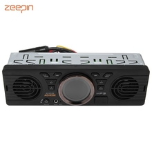 Zeepin AV252B Car 1 Din Stereo Radio Audio Player Built-in Bluetooth 2.1 EDR Off Preset 18 Stations FM Time Display Autoradio(China)