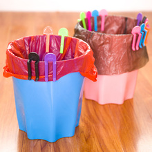 10pcs Practical Environmental Trash Bag Fixed Clip Cupboard Cabinet Tailgate Stand Storage Garbage Bags Rack V4379