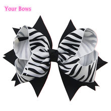 Buy Bows 1PCS 5 Inches Girls Hair Bows Classic Zebra Stripes Ribbon Bows Hairpins Hand Made Children Hair Accessories for $1.07 in AliExpress store