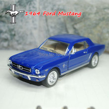 Brand New YJ 1/36 Scale Car Toys 1964 Ford Mustang Diecast Metal Pull Back Car Model Toy For Collection/Gift/Kids/Decoration