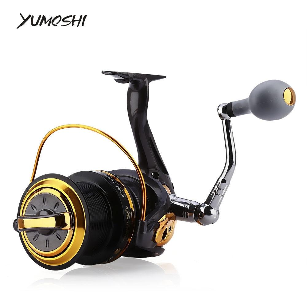 YUMOSHI Fishing Reel 12 + 1 Ball Bearings Aluminum Alloy Spool Coil Wheel Spinning Fishing Reels 8000 / 9000 Series<br>