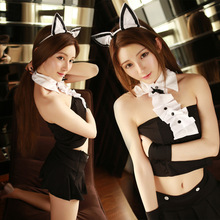Buy Japanese Sexy cosplay costumes lingerie sexy hot erotic underwear Cat Bunny Girls uniform temptation student dress