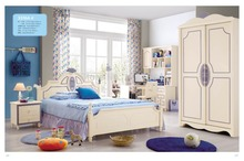 3316 Children bedroom furniture sets children bed sliding door wardrobe desk chair nightstand(China)