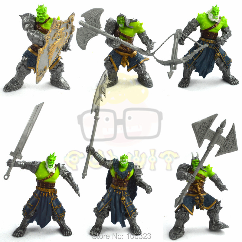 6pcs/set Assembly ORCS with Weapon, Game Action Toy Figures, Orc DIY Collect Model Toys, Therianthropy Legion of Thunder Present<br>
