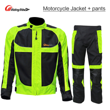 Riding Tribe Summer Motorcycle Ricing Jacket Body Armor + Motorbike Protective Pants Offroad Riding Cycling Motocross Gear Suits