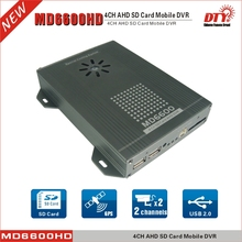 MD6600G Kit: 4ch h.264 AHD 720P GPS Mobile DVR for Car Taxi Cabs MD6600HDG+ 4 Cameras+ 4 extension cables+1 AV extension cable