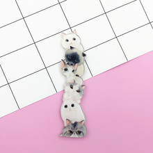 10 pieces/lot Women Men Acrylic Badges Cat Giraffe Rabbit Dog Brooches Brooch Pins Lapel Pin Accessories Fashion Clothes Jewelry